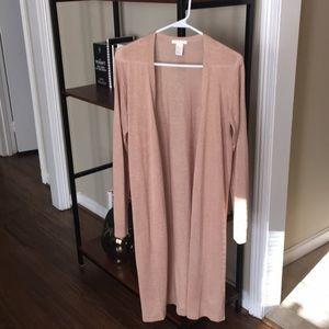 H&M longline thin tan cardigan